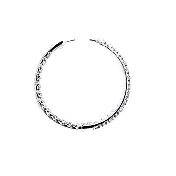 Inside-Out Diamond Hoops