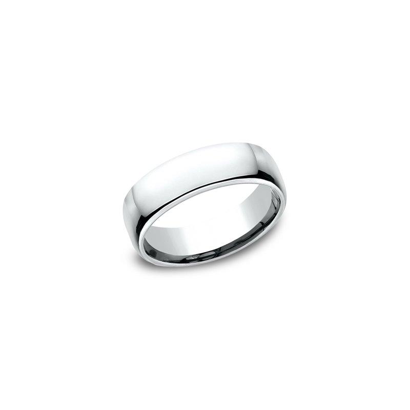 Sartor Hamann Bridal Euro Comfort Fit Wedding Band 6.5mm White Gold