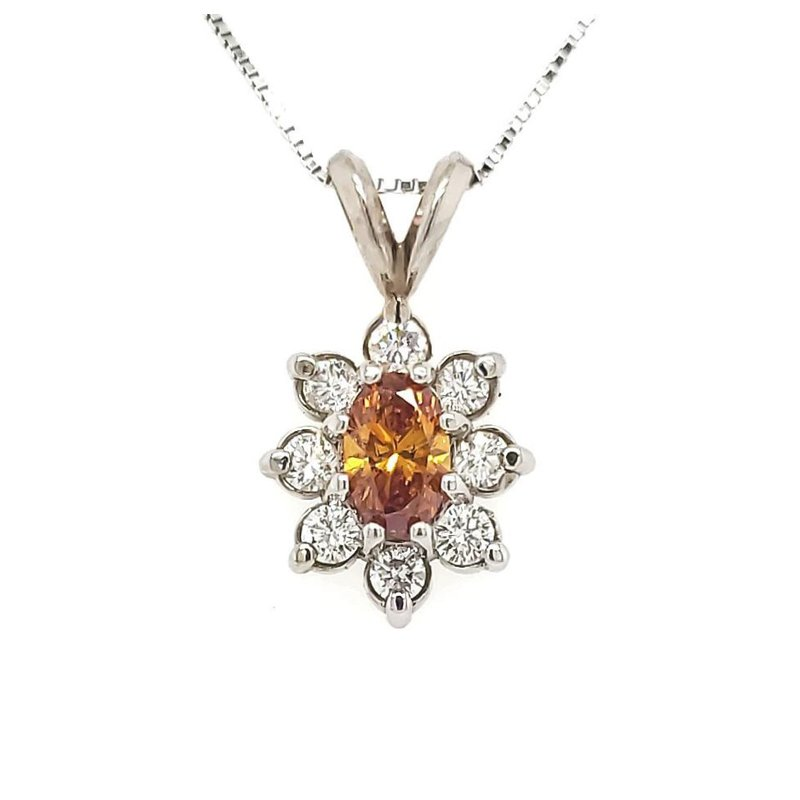 Sartor Hamann Closeouts Golden Brown Diamond Pendant