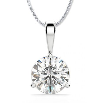 Diamond Solitaire Pendant with Hearts on Fire Diamond