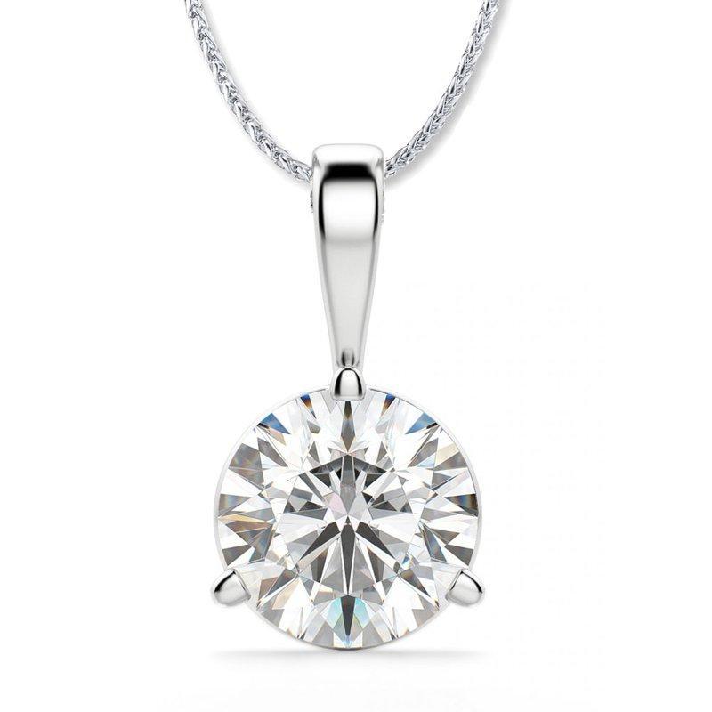 Sartor Hamann Signature Diamond Solitaire Pendant with Hearts on Fire Diamond