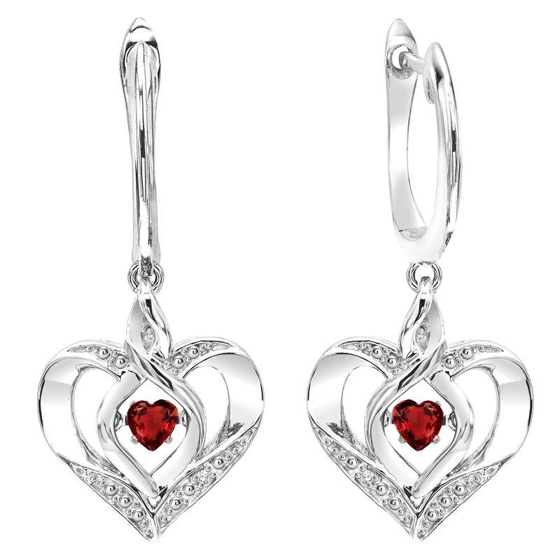 Sartor Hamann Signature Birthstone Heart Earrings