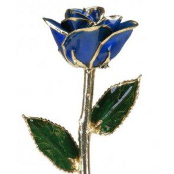 Dark Blue Rose - 24KT Trimmed