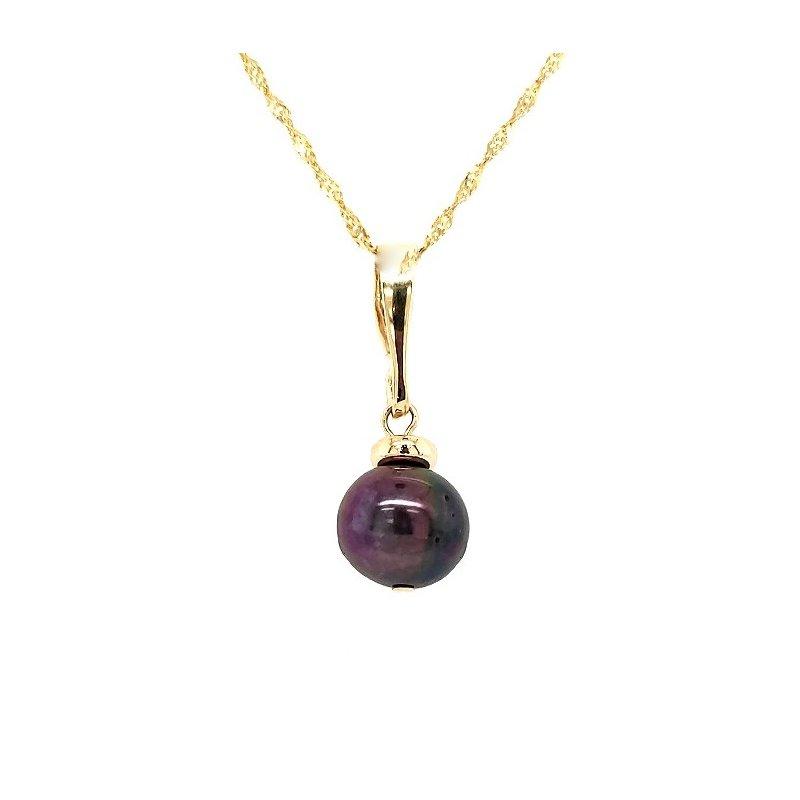 Estate Collection Black Pearl Pendant