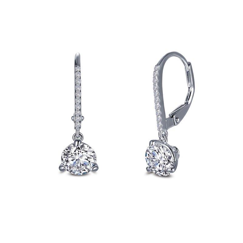 Sartor Hamann Signature Lafonn Sterling Silver Dangle Earrings