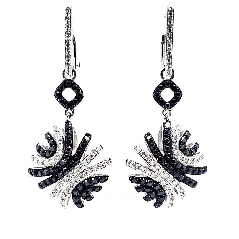 Sartor Hamann Closeouts Black and White Diamond Earrings