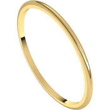 Wedding Band 1mm Yellow Gold