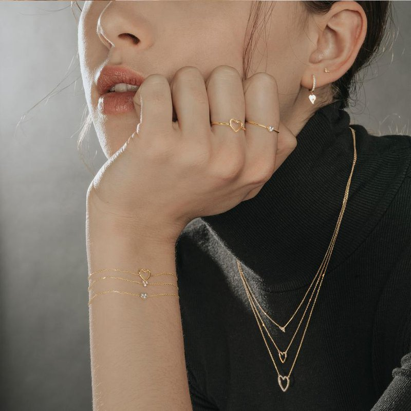 Aurelie Gi Jane Open Heart Necklace