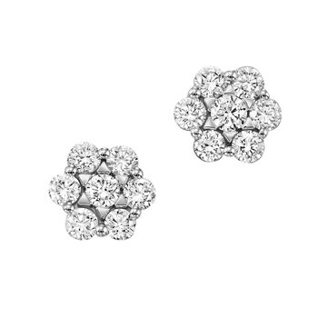 Lab Created Diamond Cluster Earrings