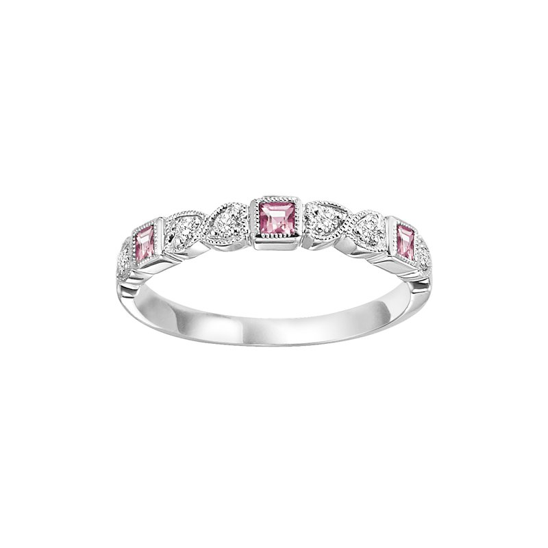 Sartor Hamann Signature Pink Tourmaline Mixable Birthstone Rings in 4 Styles