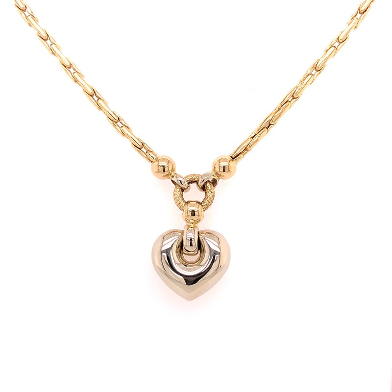 Estate Collection Puffed Heart Necklace