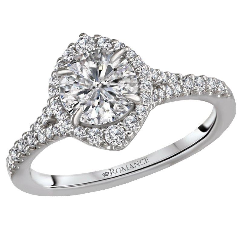 King's Bridal Platinum Semi-Mount Engagement Ring without Center Diam