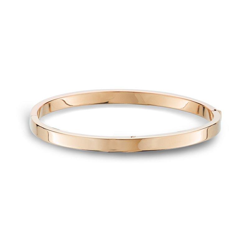 King's Rose Gold Bangle Bracelet Flat Edge