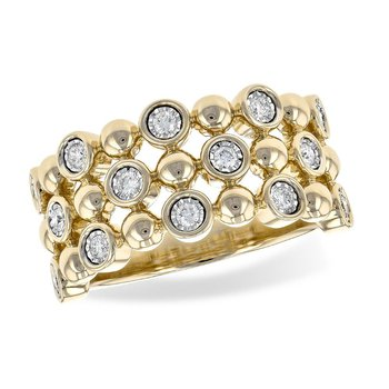 Beaded Style Diamond Band
