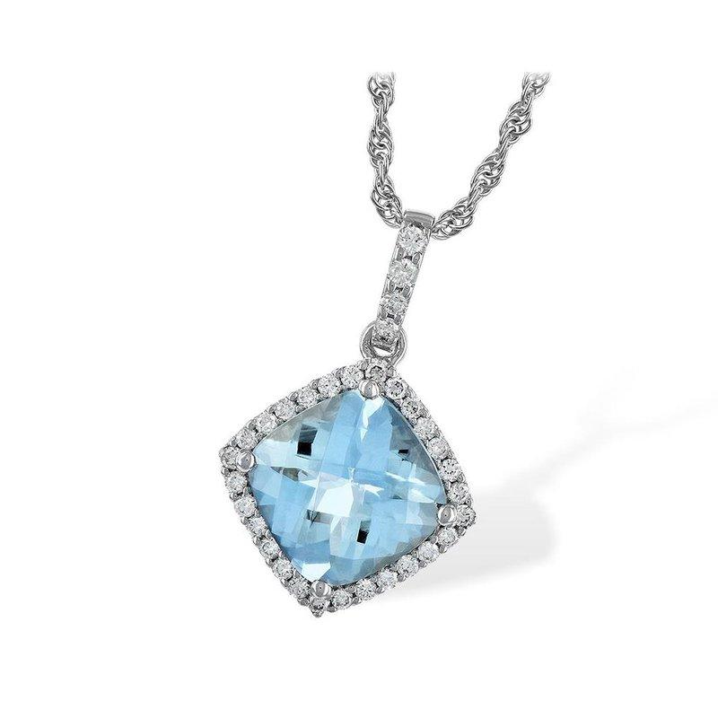 King's Aquamarine and Diamond Pendant