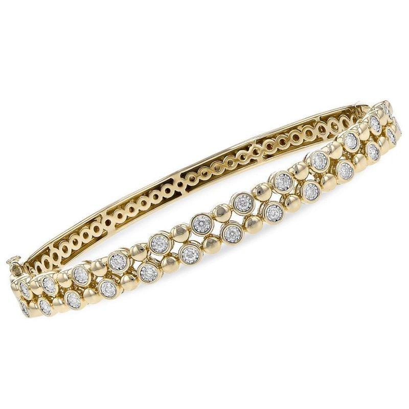 King's Beaded Bangle Diamond Bracelet