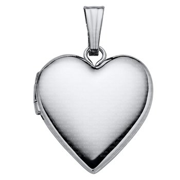 "Sterling Heart Locket on 18"" Chain"