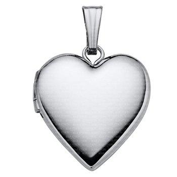 """Sterling Heart Locket on 18"""" Chain"""