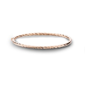 Yellow Gold Bangle Bracelet Rope Style