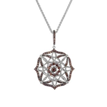 """Eternity Day Night"" CZ Scalloped Pendant Reversible"