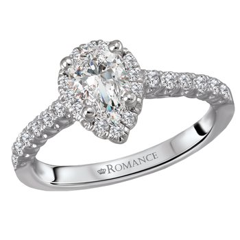 Pear Shape .50ct Diamond Halo Engagement Ring  #030377