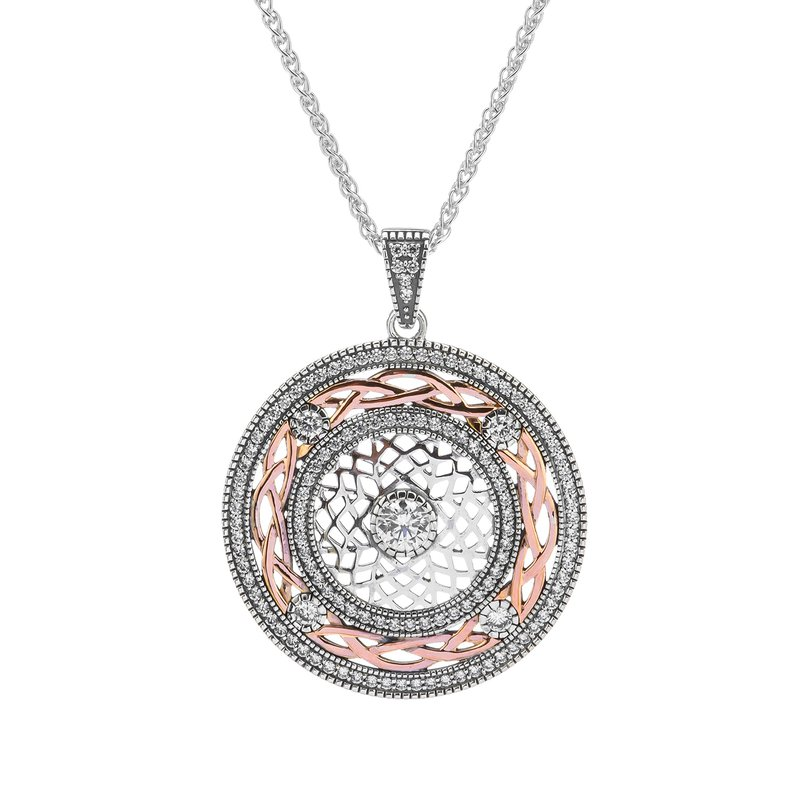 "Keith Jack ""Braveheart"" Sterling & Rose Gold CZ Pendant"