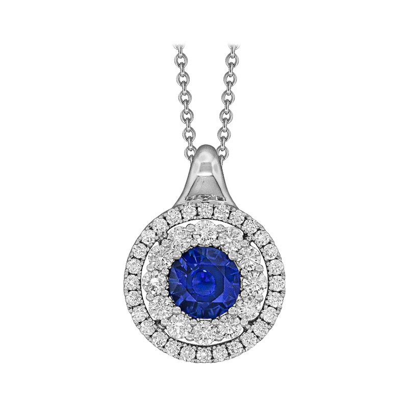 King's Blue Sapphire and Diamond Necklace