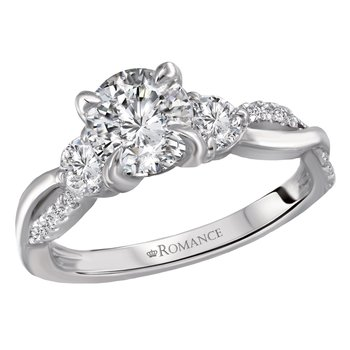 Diamond Engagement Ring .75ct  with Diams in Band
