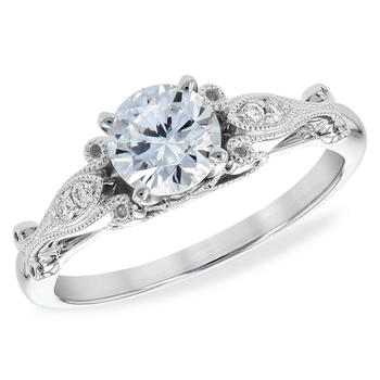 Diamond Design Engagement Ring .95tw