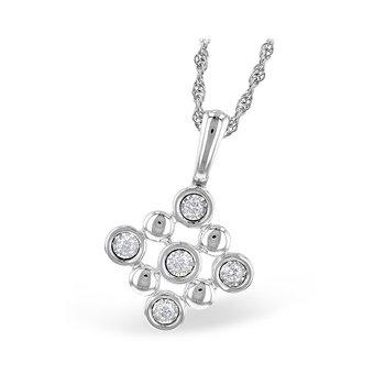 Beaded Diamond Pendant