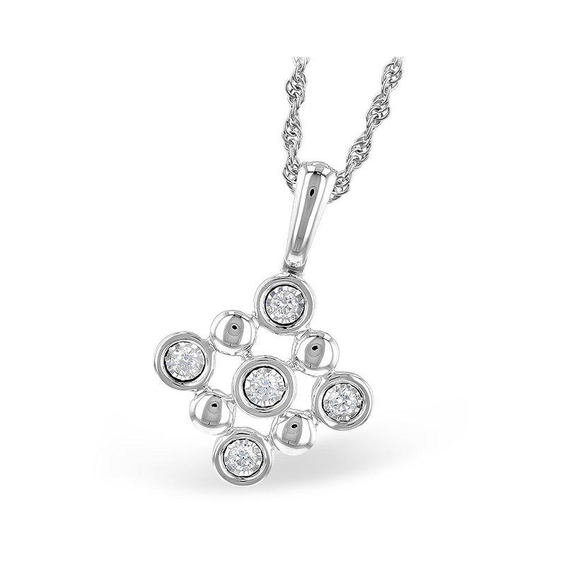 King's Beaded Diamond Pendant
