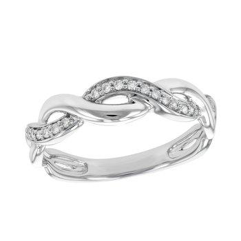 White Gold Diamond Band .10tw   #050345