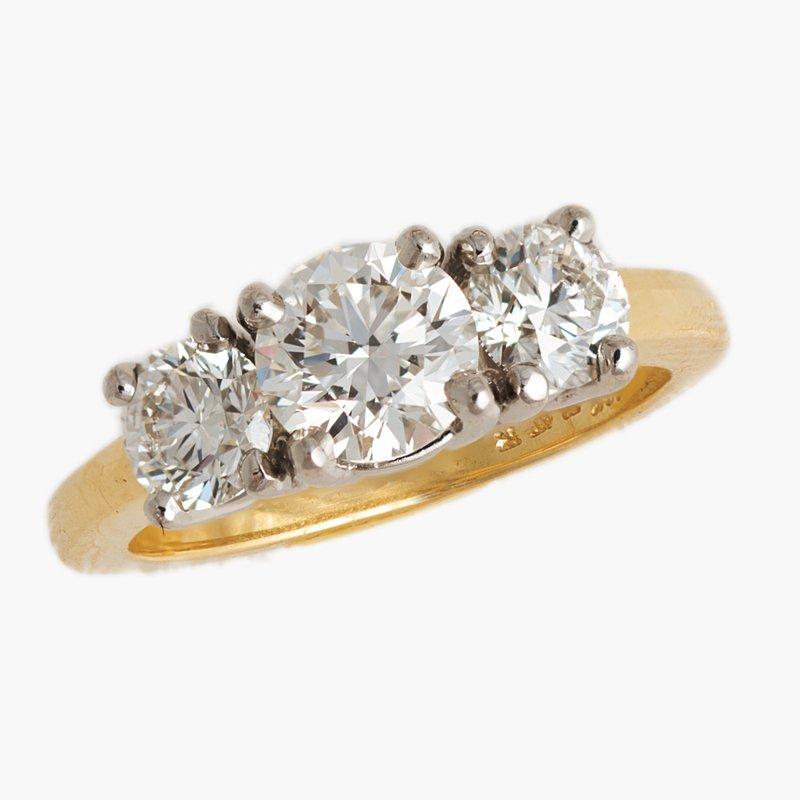 King's Bridal Diamond Three Stone Engagement Ring