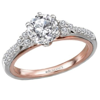 18kt Wh & Rose Gold Diamond Engagement Ring