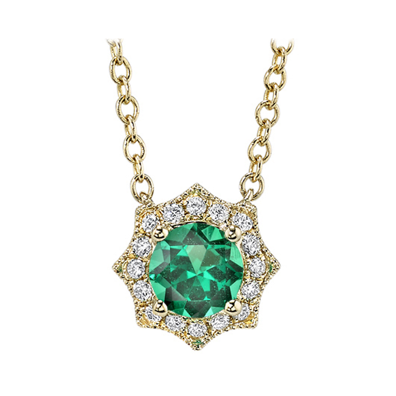 King's Emerald and Diamond Pendant