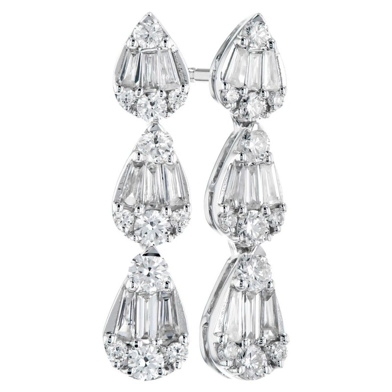 King's Diamond Dangle Earrings