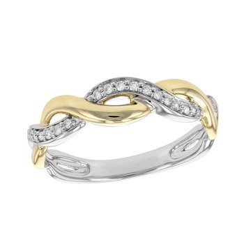 White & Yellow Gold Diamond Band