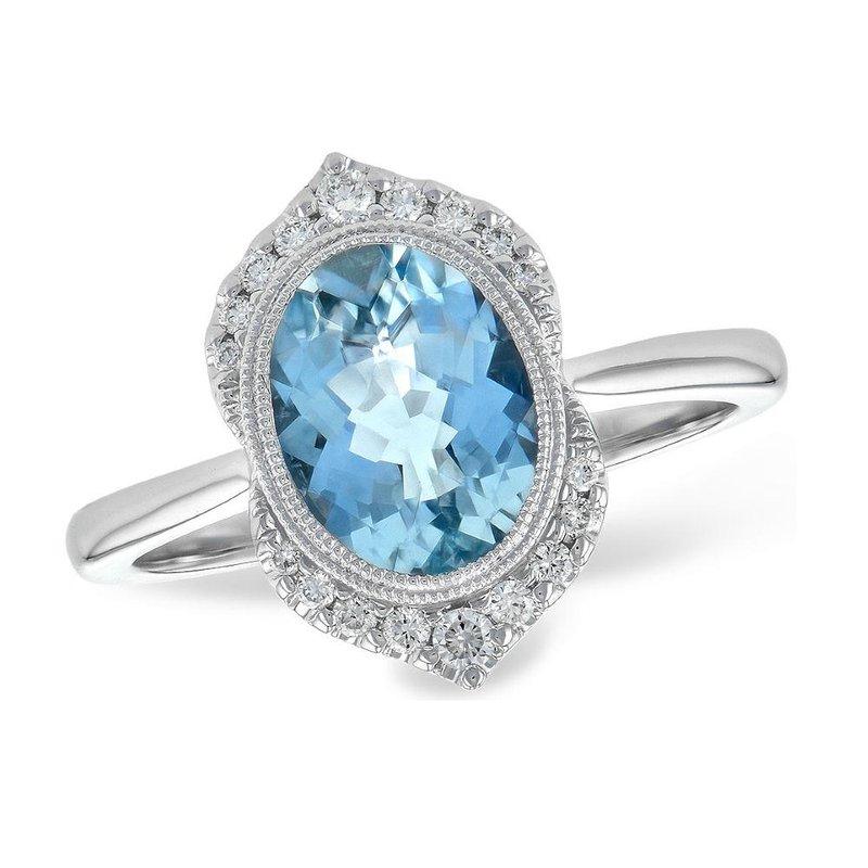King's Aquamarine and Diamond Ring