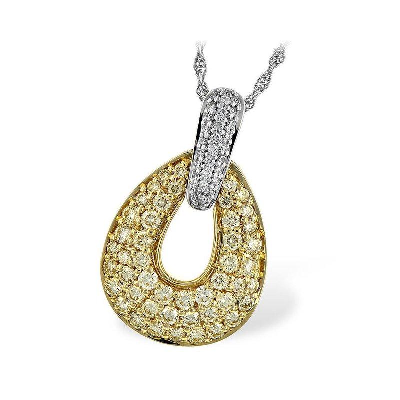 King's Diamond Pave Teardrop Pendant