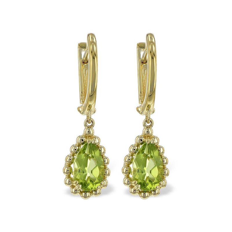 King's Peridot Dangle Earrings