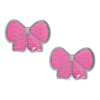 Sterling Pink Bow Earrings