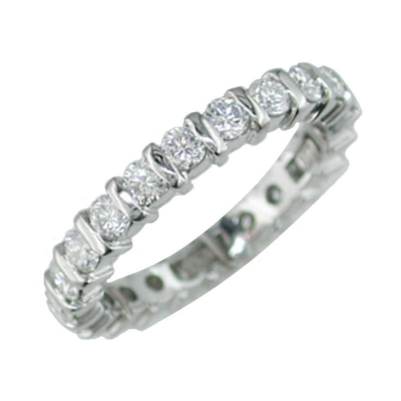 King's Bridal Diamond Eternity Band Vertical Channel 1.54tw   #040048