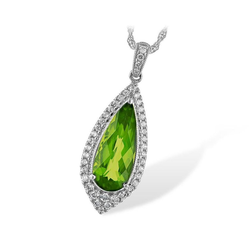 King's Peridot and Diamond Pendant