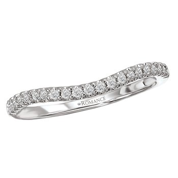Curved Diamond Band 14kt  #050751
