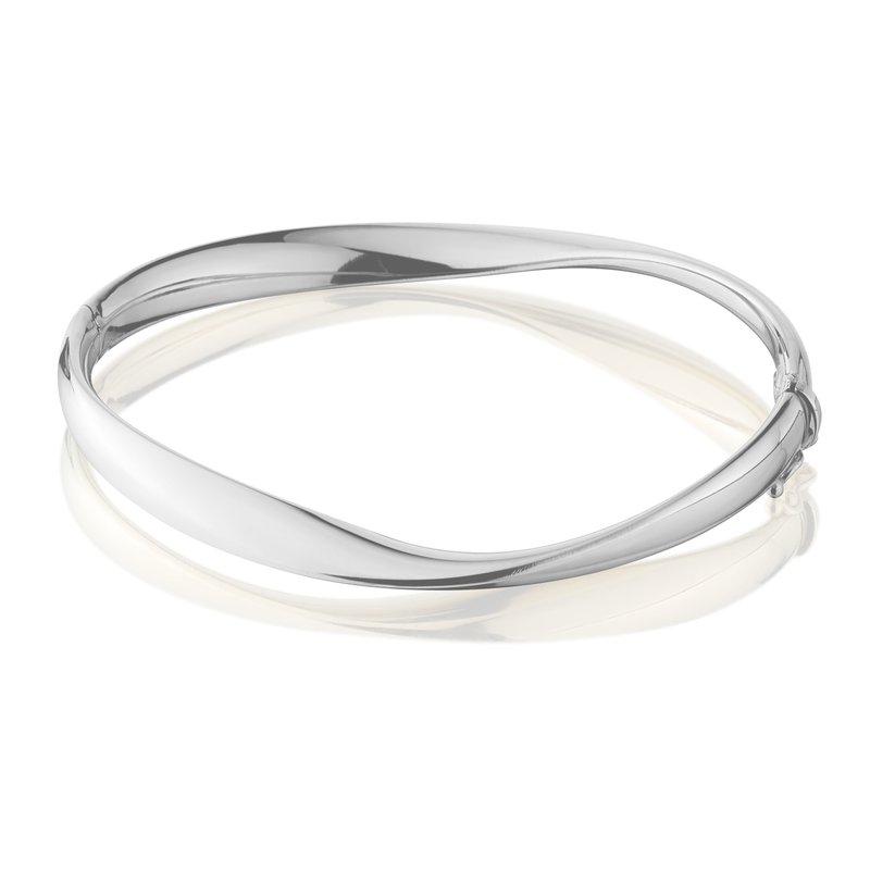 King's Sterling Silver Mobius Shaped Bangle Bracelet