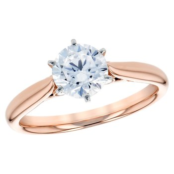 14kt Rose Gold Diamond Engagement Ring 1.00ct