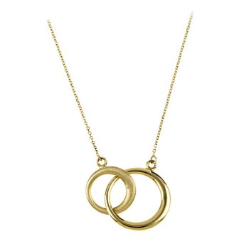 Double Circle Necklace !6""
