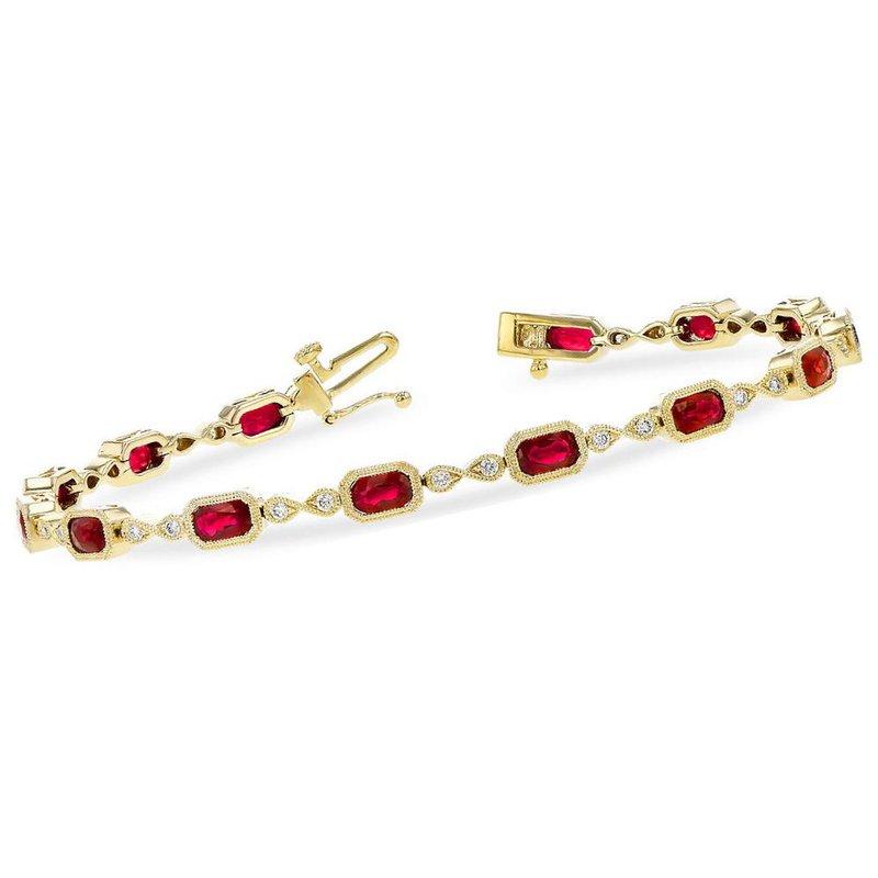 King's Ruby and Diamond Bracelet