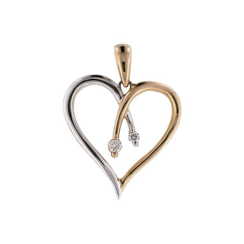 King's Diamond Heart Pendant w/Chain