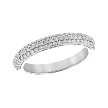 Ladies Pave Set Diamond Band #050832